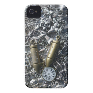 Steampunk charms iPhone 4 cover