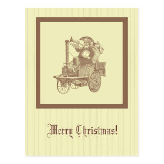 steampunk Christmas - Santa in goggles Postcard