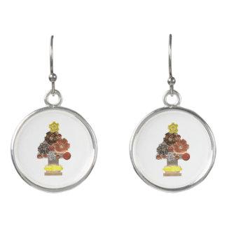 Steampunk Christmas Tree Earrings