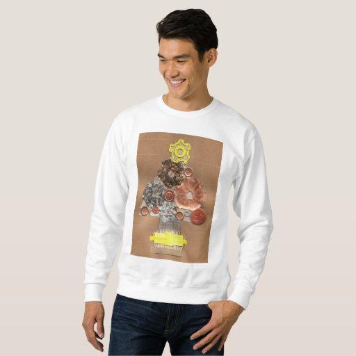 Steampunk Christmas Tree Men's Jumper Sweatshirt