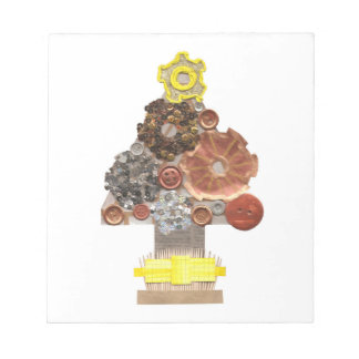 Steampunk Christmas Tree Notepad