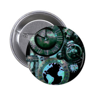 Steampunk Clock 6 Cm Round Badge