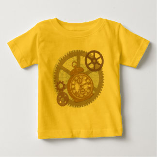 Steampunk Clock and Gears Baby T-Shirt