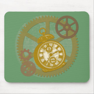Steampunk Clock and Gears Mouse Pad