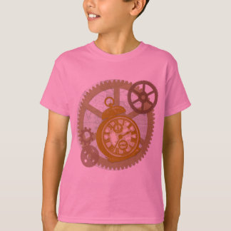 Steampunk Clock and Gears T-Shirt