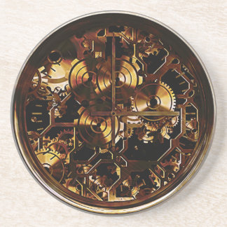 Steampunk Clock Gears Beverage Coasters