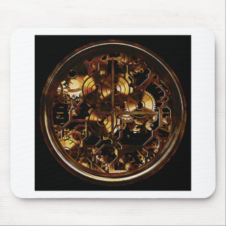Steampunk Clock Gears Mouse Pad