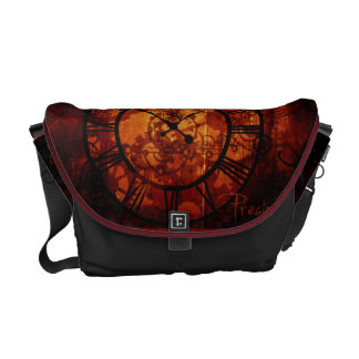 steampunk clock Messenger Bag
