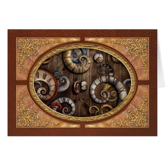 Steampunk - Clock - Time machine Card