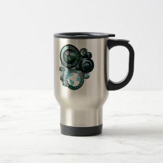 Steampunk Clock Travel Mug