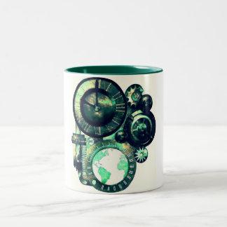 Steampunk Clock Two-Tone Mug