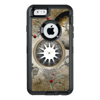 Steampunk, clocks and gears OtterBox defender iPhone case