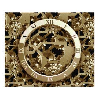Steampunk Clocks  Gold Gears Mechanical Gifts Photo