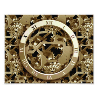Steampunk Clocks  Gold Gears Mechanical Gifts Photo