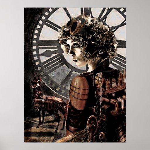 steampunk clocktower posters