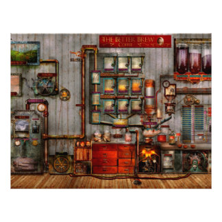 Steampunk - Coffee - The company coffee maker Flyers