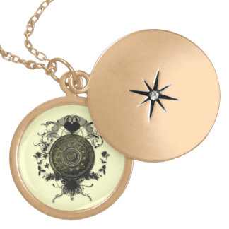 Steampunk cog art Necklace