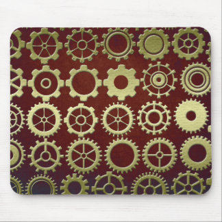 Steampunk Cogs and Gears Art Mouse Pad