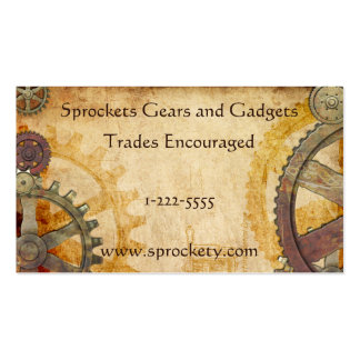 Steampunk Cogs and Gears Pack Of Standard Business Cards