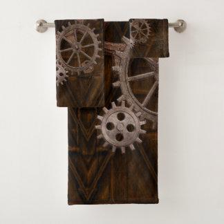 Steampunk Cogs , Gears & Skeleton Key Bath Towel Set