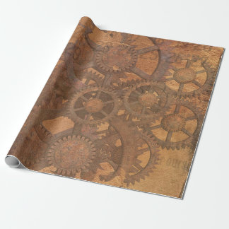Steampunk Cogs Wrapping Paper