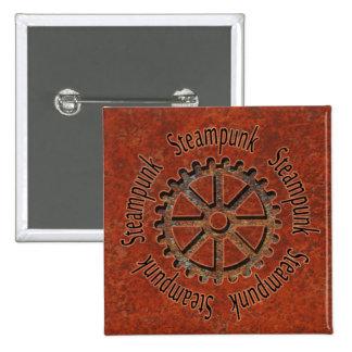 Steampunk Cogwheel 15 Cm Square Badge