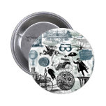 Steampunk Collage Colorized Pins