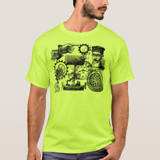 steampunk collage number 1 T-Shirt