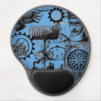 Steampunk Collage Number One Mouse Pad Gel Mouse Pad