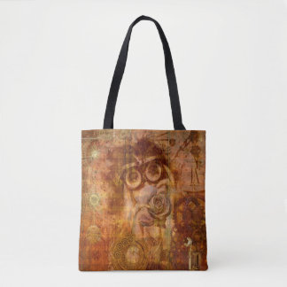 Steampunk Collage Tote Bag
