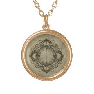 Steampunk Compass Art Necklace