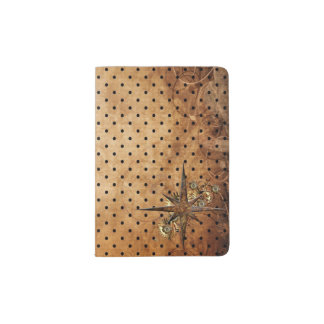 Steampunk Compass Star Passport Holder