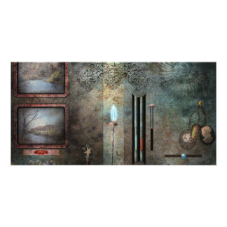 Steampunk - Control Panel Photo Card Template