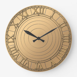steampunk copper like large clock