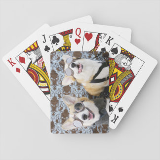 Steampunk Corgis Playing Cards