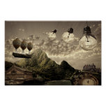 steampunk countryside poster