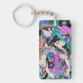 Steampunk Couple Keychain B