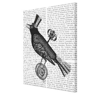 Steampunk Crow Canvas Print
