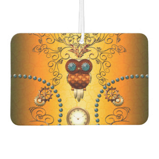 Steampunk , cute owl car air freshener