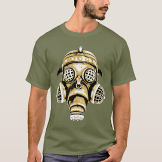 Steampunk / Cyberpunk Gas Mask 3 Color Graphic T-Shirt