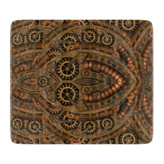 Steampunk Decorative Glass Cutting Boards 5 sizes