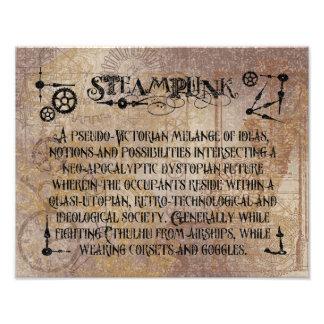 Steampunk Definition Photo Print