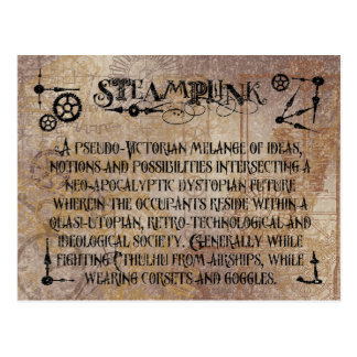 Steampunk Definition Postcard