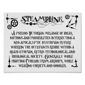 Steampunk Definition Poster