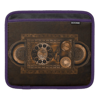 Steampunk Design with Dials and Gauges, Brown iPad Sleeve