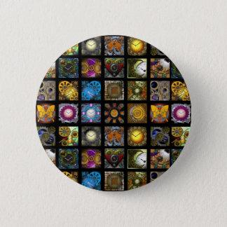 Steampunk Designs 6 Cm Round Badge