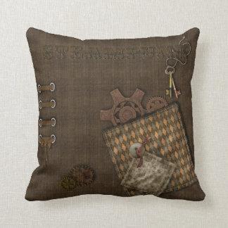 Steampunk Designs Throw Pillows