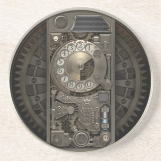 Steampunk Device - Rotary Dial Phone. Coaster