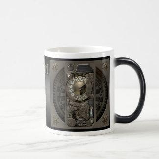 Steampunk Device - Rotary Dial Phone. Morphing Mug