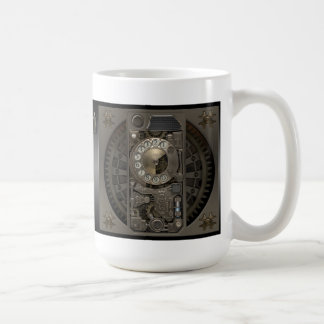 Steampunk Device - Rotary Dial Phone. Classic White Coffee Mug